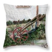 Lindas' Garden Throw Pillow