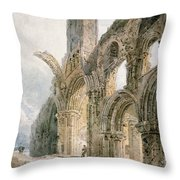 Lindisfarne Abbey Throw Pillow