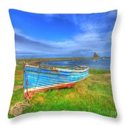 Lindisfarne By The Sea Throw Pillow