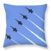 Line Abreast Pass Throw Pillow