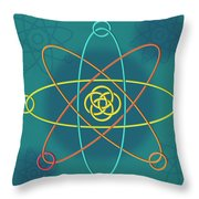 Line Atomic Structure Throw Pillow