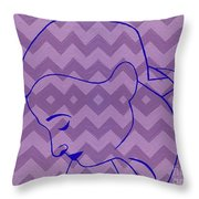 Line Drawing Throw Pillow