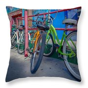 Line Em Up Throw Pillow