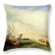 Line Fishing - Off Hastings Throw Pillow