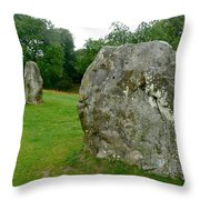 Line Of Avebury Stones Throw Pillow