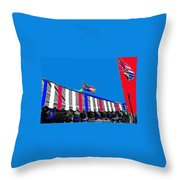 Line Of Hats Tent Us Confederate Flags Tucson Arizona 1984-2012 Throw Pillow