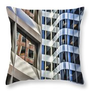 Line Or Curves Throw Pillow by Susan Leonard