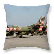 Line-up Of Hellenic Air Force T-2 Throw Pillow
