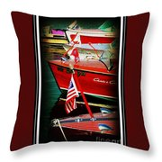 Line Up Throw Pillow