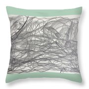 Linear Space Throw Pillow