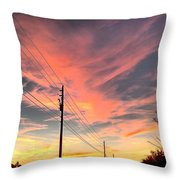 Lined Up Throw Pillow