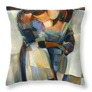 Lines Crossed Throw Pillow