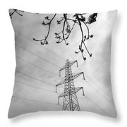 Lines In Black And White Throw Pillow