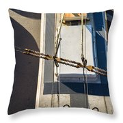 Lines Of Civilization Throw Pillow