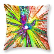 Lines Of Color Throw Pillow