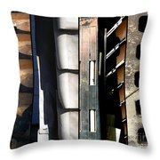 Lines Of Connection Throw Pillow