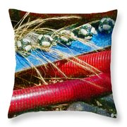 Lines Of Power  Throw Pillow
