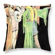Lingerie Ladies Throw Pillow