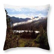 Lingering Mist Throw Pillow
