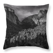 Lingering Shadows In Grey Throw Pillow