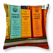 Liniments From 1864 Throw Pillow