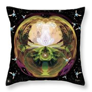 Link From The Legend Of Zelda Throw Pillow by Paula Ayers