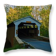 Linton Stevens Covered Bridge Throw Pillow