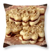 Linzer Cookies Throw Pillow