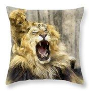 Lion 15 Throw Pillow
