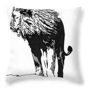 Lion 5x7 Card Throw Pillow