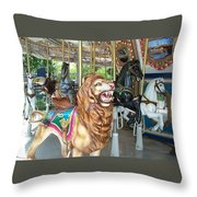 Lion At Liberty Throw Pillow