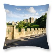 Lion Bridge At Alnwick Castle Throw Pillow