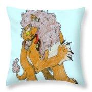 Lion Dragon Throw Pillow