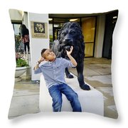 Lion Hearted Throw Pillow