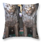 Lion Hearted Share Throw Pillow