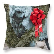 Lion In Winter Throw Pillow