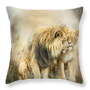 Lion Kiss Throw Pillow