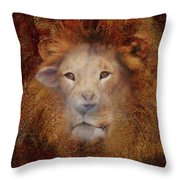 Lion Lamb Face Throw Pillow