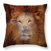 Lion Lamb Face Throw Pillow