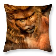 Lion Man Throw Pillow