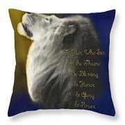 Lion Adoration Throw Pillow