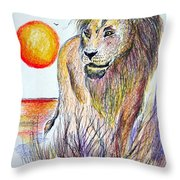 Lion Of Lions Throw Pillow