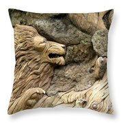 Lion On The Tree Of  Life Throw Pillow