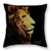Lion Paint Throw Pillow