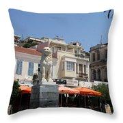 Lion Place Of Samos Throw Pillow