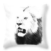 Lion Portrait - Lions Of The Masai Mara Throw Pillow by Aidan Moran