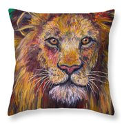 Lion Stare Throw Pillow