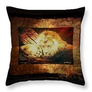 Lion Tapestry - Soulmates Throw Pillow