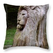 Lion Tree Throw Pillow