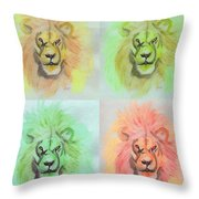 Lion X 4  Throw Pillow